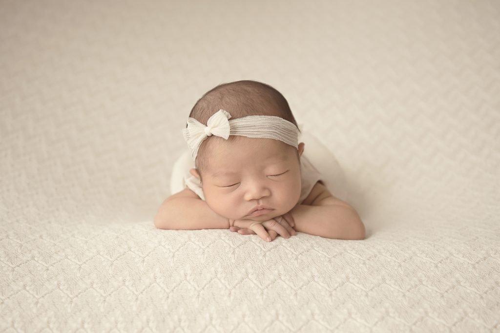 Newborn Photography North Vancouver - Newborn baby girl sleeping on