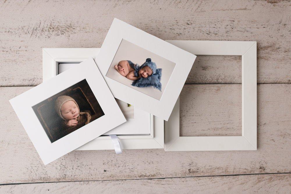 Vancouver Newborn Photographer - Luxury Folio Album with glass front